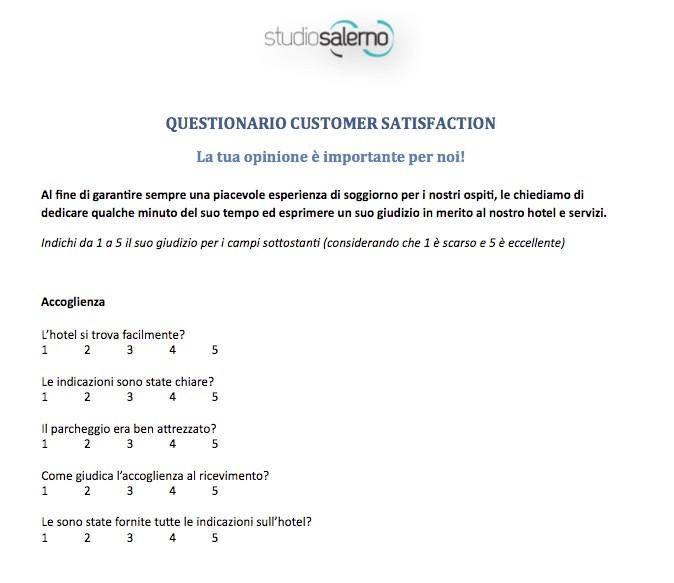 hotel customer satisfaction survey pdf